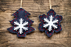 Christmas decorations with ornaments Stock Image