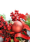 Christmas Decorations over white Royalty Free Stock Image