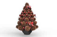 Christmas Decorations - Pine Cones Royalty Free Stock Image