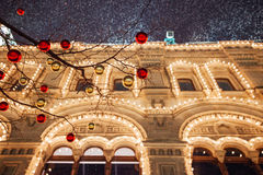 Christmas decorations on the Red Square, Moscow, Russia Royalty Free Stock Image