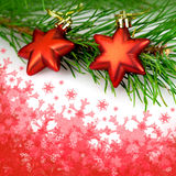 Christmas decorations red stars Royalty Free Stock Photography