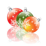 Christmas decorations reflecting Stock Image
