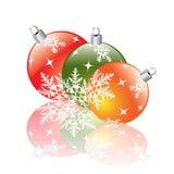 Christmas decorations reflecting Stock Image