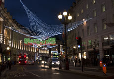 Christmas decorations in Regent street, London Royalty Free Stock Photography
