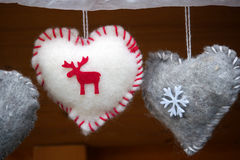 Christmas decorations with reindeer and snowflake Royalty Free Stock Images