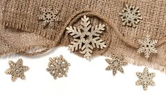 Christmas decorations in retro style isolated on white background Stock Photography