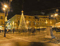 Christmas decorations in Rimini Royalty Free Stock Image