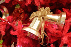 Christmas decorations ring and gold Stock Photos