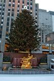 Christmas decorations in rockefeller cente Royalty Free Stock Photography