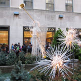 Christmas decorations at Rockefeller Center. royalty free stock images