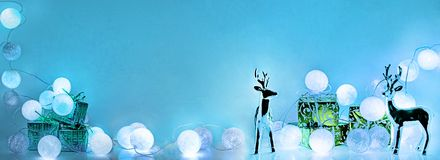 Christmas decorations. Round electric Christmas lights Stock Image
