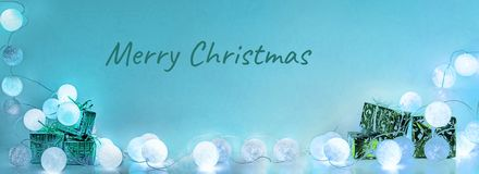Christmas decorations. Round electric Christmas lights Stock Images