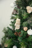 Christmas decorations in rustic style Royalty Free Stock Photo