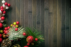 Christmas decorations  rustic wallpaper Stock Photo