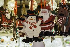Christmas decorations on sale royalty free stock photos