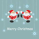 Christmas decorations and santa card. s Stock Image