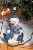 Christmas decorations and Santa Claus Royalty Free Stock Image