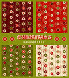 Christmas decorations seamless pattern Stock Photos