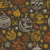 Christmas decorations seamless pattern Stock Photography