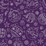 Christmas decorations seamless pattern Stock Image