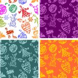 Christmas decorations - seamless pattern set. Royalty Free Stock Photography