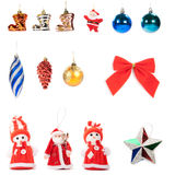 Christmas decorations set Stock Photos