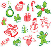 Christmas Decorations Set Royalty Free Stock Images
