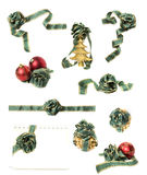 Christmas Decorations Set Isolated Stock Photography