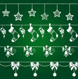 Christmas decorations set Royalty Free Stock Image