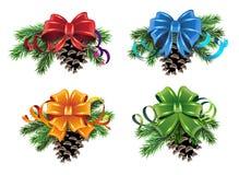 Christmas decorations set Stock Photo