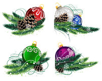 Christmas decorations set Royalty Free Stock Photography