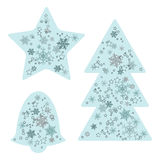 Christmas Decorations  - set of vector elements Stock Photo