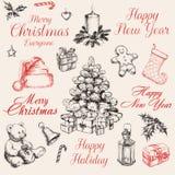 Christmas Decorations Set vector illustration Stock Image