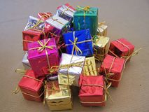 Christmas decorations - several aspects. /details Royalty Free Stock Images