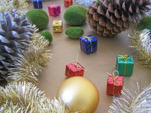 Christmas decorations - several aspects. /details Stock Photos
