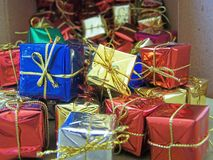 Christmas decorations - several aspects. /details Royalty Free Stock Image