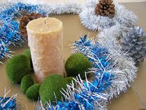 Christmas decorations - several aspects. /details Stock Images