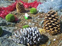 Christmas decorations - several aspects. /details Stock Photo