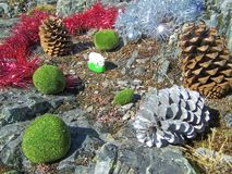 Christmas decorations - several aspects. /details Stock Photography