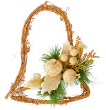Christmas decorations in the shape of a bell stock photos