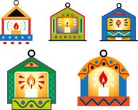 Christmas decorations in the shape of small house.  Royalty Free Stock Photos