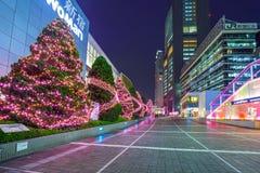 Christmas decorations at Shinjuku train station of Tokyo Royalty Free Stock Photo