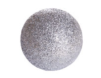 Christmas decorations shiny silver ball isolated Stock Image