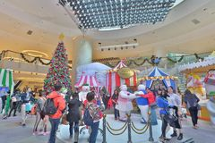 The Christmas decorations in the shopping mall. The Christmas decorations at the shopping mall Stock Photography