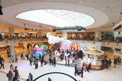 The Christmas decorations in the shopping mall. The Christmas decorations at the shopping mall Stock Photo