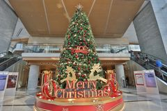 The Christmas decorations in the shopping mall. The Christmas decorations at the shopping mall Stock Photos