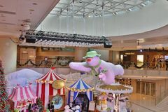 The Christmas decorations in the shopping mall. The Christmas decorations at the shopping mall Royalty Free Stock Images
