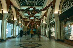 Christmas decorations, shopping mall, London Royalty Free Stock Images