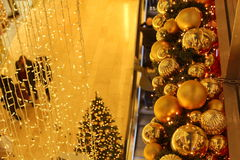 Christmas decorations in a shopping mall Stock Images