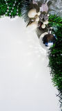 Christmas decorations with silver ball Stock Images